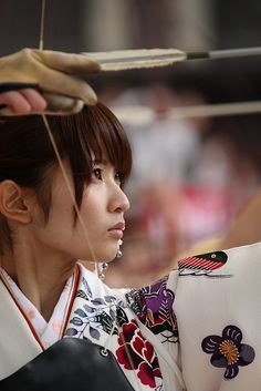 *Slave Hunter when see a Korea looking to Shouei.  Kyūdō Shōjo / Japanese Archery Girl / 弓道少女 #Japan