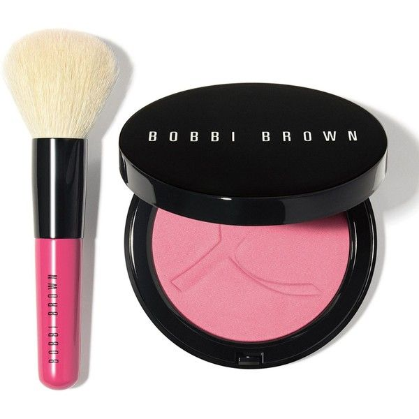 Bobbi Brown Pink Peony Illuminating Bronzing Powder Set ($46) ❤ liked on Polyvore featuring beauty products, makeup, cheek makeup, cheek bronzer, blender brush, blending brush and bobbi brown cosmetics