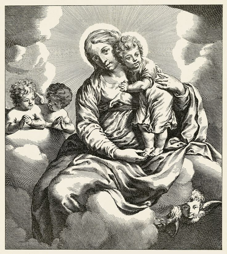 Panna Maria s dítětem (Virgin Mary with baby Jesus)