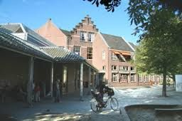 Juliana Van Stolberg School, Pieterskerkhof, as I remember it with the big sandbox.  It was the first Dalton School in Utrecht and was established in the late 1800's.