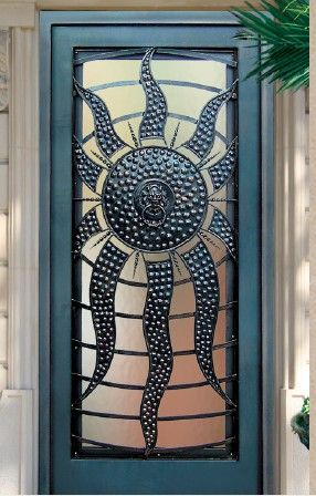 Now that is interesting |||| Blue Sun Door & 699 best Doors for the Home images on Pinterest | French doors The ...