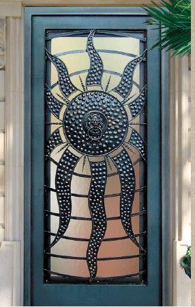 Ornamental Wrought Iron Sun Door & 75+ best interesting front doors images on Pinterest | Front doors ...