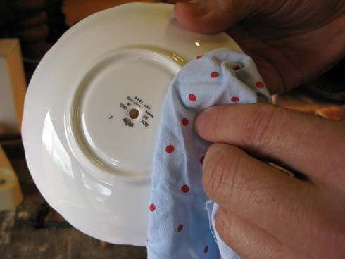 DIY how to drill a hole in vintage china & ceramics Tutorial