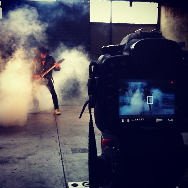 Just wrapped day 2 of MetalWrath music video