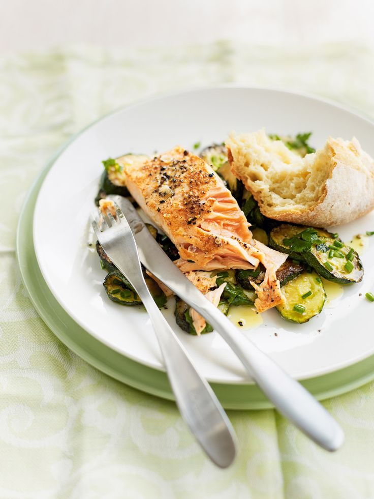 Look out for salmon (or another type of fish, if you fancy) that is Marine Stewardship Council (MSC) approved. This fish dish is great with new potatoes.