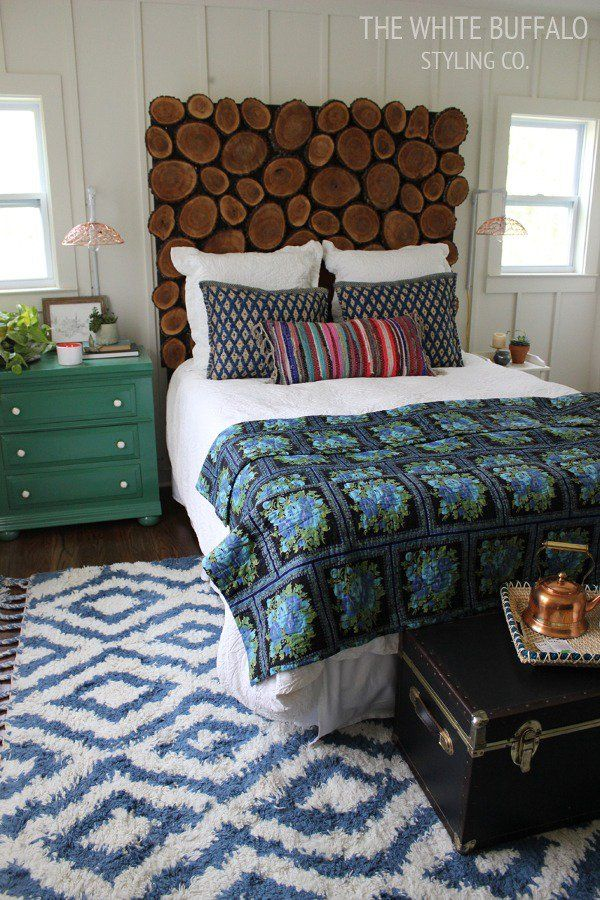17 best ideas about diy headboards on pinterest for Diy rustic bedroom set