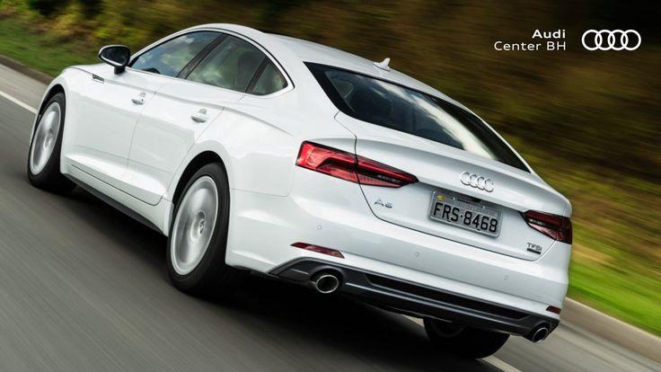 A perfeita união de formas dramáticas e superfícies atleticamente tensas resultam no desenho do novo Audi A5 Sportback.  #AudiA5 #Audi #Performance #Design #A5 #Coupe #AudiLovers #Love #AudiAutomovel #AudiCenterBH #Car #Auto