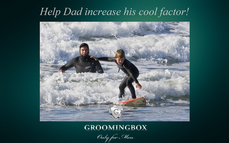 """Last day of the Father's Day campaign on Groomingbox.com!  Subscribe to Groomingbox for your Dad & let him get his own cool grooming kit straight home every second month. Use the Voucher/code: """"DADSCOOLFACTOR"""" in the check out and get 10% discount for The Great Groomingbox for you and for Dad. #fathersday #fordad #idealgiftforhim #giftfordad #happyfathersday"""