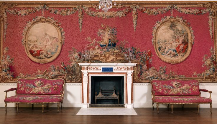 Tapestry Room from Croome Court.  Room after a design by Robert Adam (British, Kirkcaldy, Scotland 1728–1792 London)