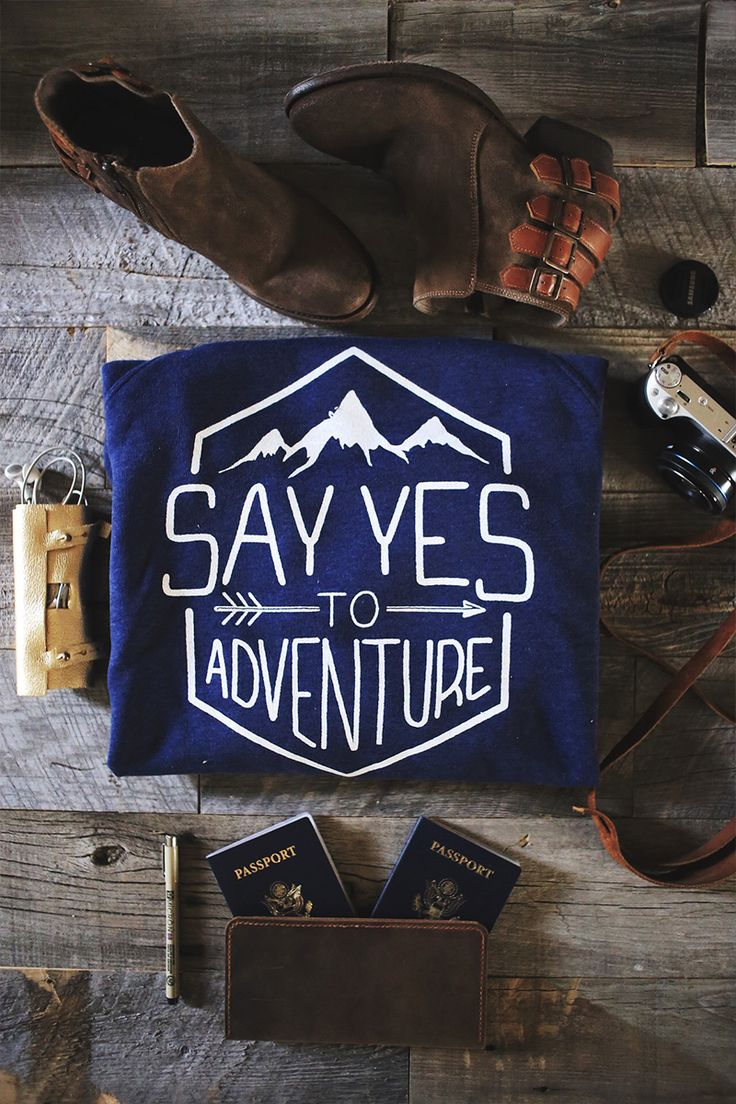 Say Yes to Adventure Sweater! This apparel helps rescue children from the sex trade. LOVE