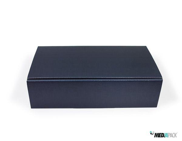 Caixa de cartão para diversas utilizações. Disponível com 15% de desconto. http://loja.mediapack.com/pt/embalagem-de-cartao-azul-para-duas-garrafas_1/