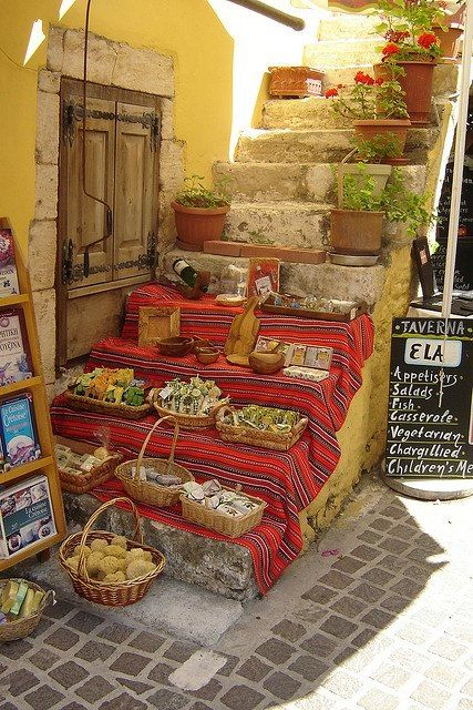 Display of local products, Crete