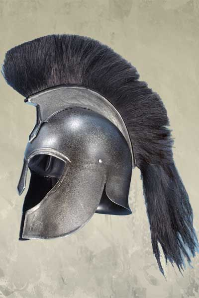 Troy Achilles Greek Helmet - Epic Dark Metal