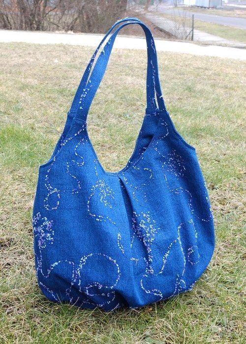 """Hobo Bag \""""Blue Jeans\"""""""