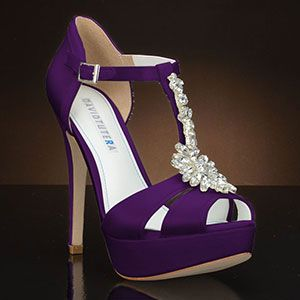 perfect to wear for wedding white lace or these heals for the big day purple heels