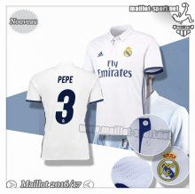Maillots-Sport: Créer Un Maillot Foot Real Madrid Pepe 3 Domicile 2016 2017