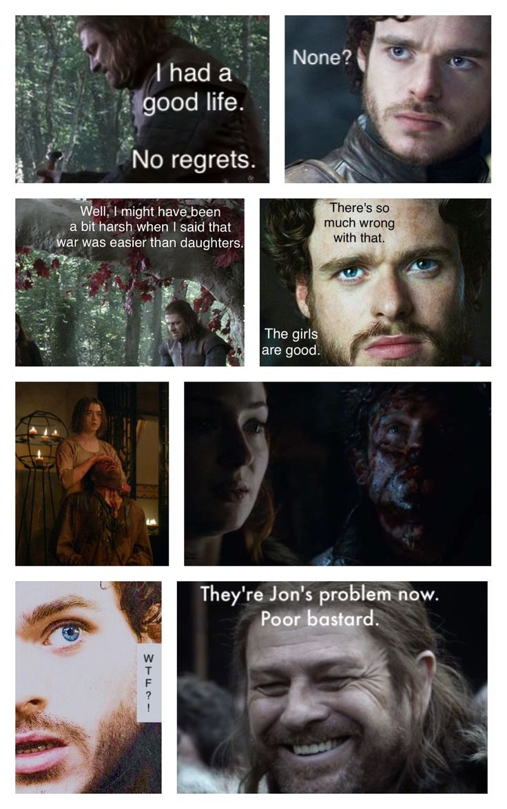 Game of Thrones - The Stark men know nothing.