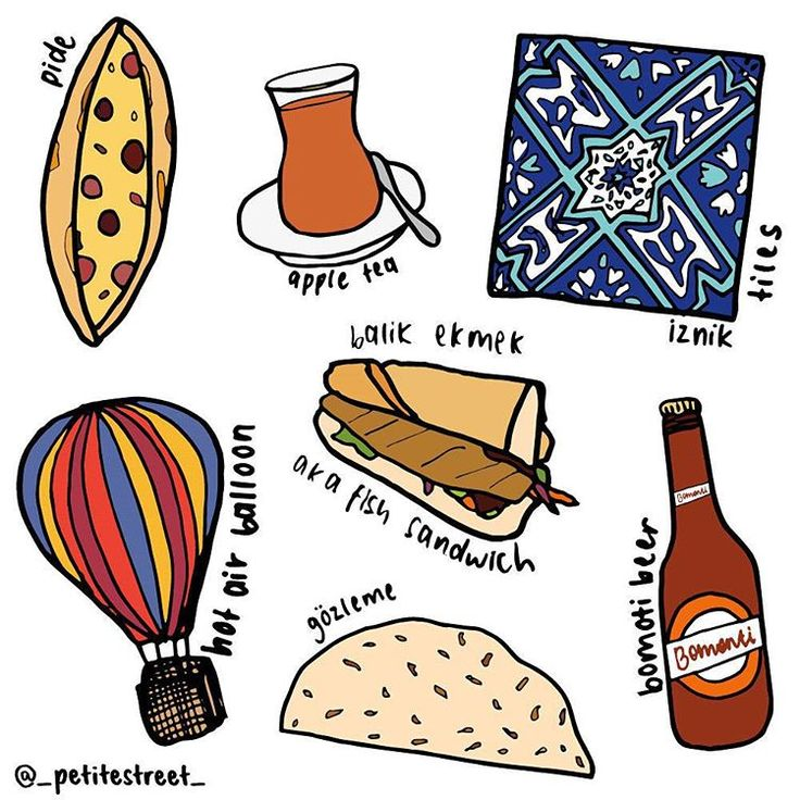 Turkey travel edit, illustrated by Tiffany Loh of Petite Street. Follow on Instagram: @_petitestreet_