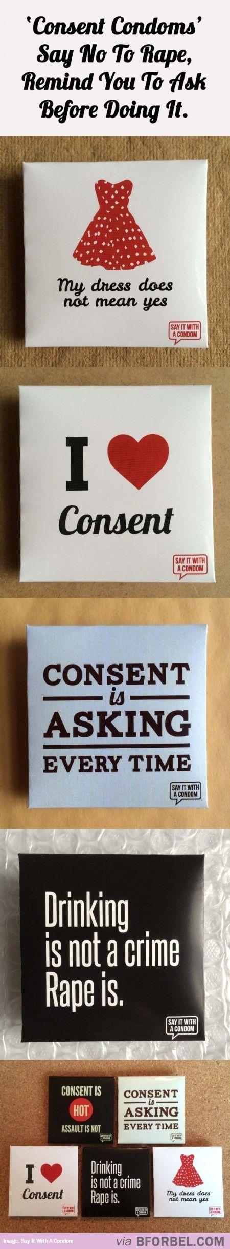 Consent Condoms That Say No To Rape…