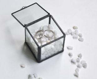 Caja porta alianzas | Zeta Glass | Artesanía en vidrio
