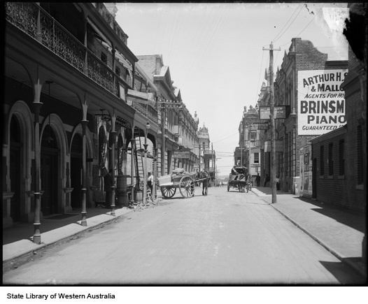 King Street, Perth, between Murray and Hay Streets, 1907