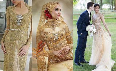 GROSIR BROKAT SANGKARA: Model Gaun dan Kebaya Pernikahan Terbaru 2016 (nuansa Gold)