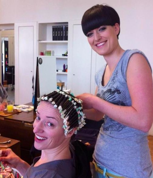 sissy salon getting a curly perm - Yahoo Image Search ...