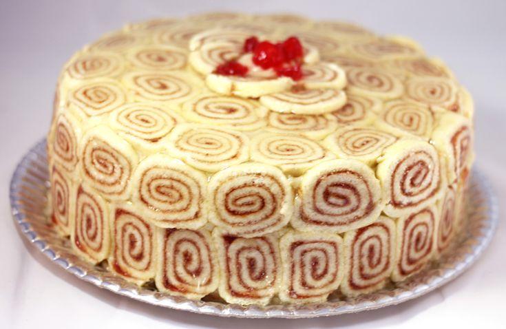 Torta de Rocambole - Mais Receita