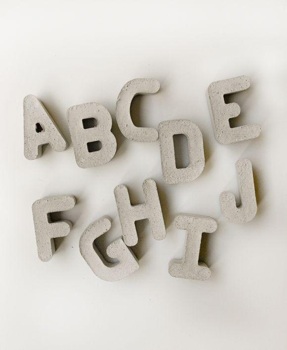 DIY Cement Letters