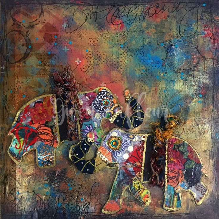 Boho Art Journaling with Stencils & Stamps | Gwen Lafleur - Gwen Lafleur Studios