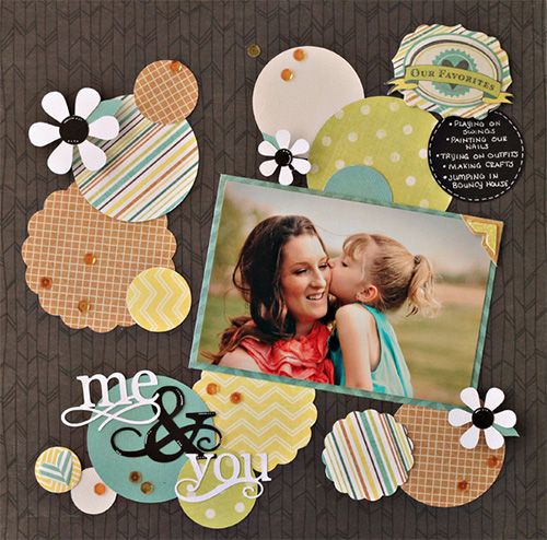 USE MY CIRCLES, FLOWERS. EMBOSS, ADD PATTERN PAPER, DIFFERENT SIZES
