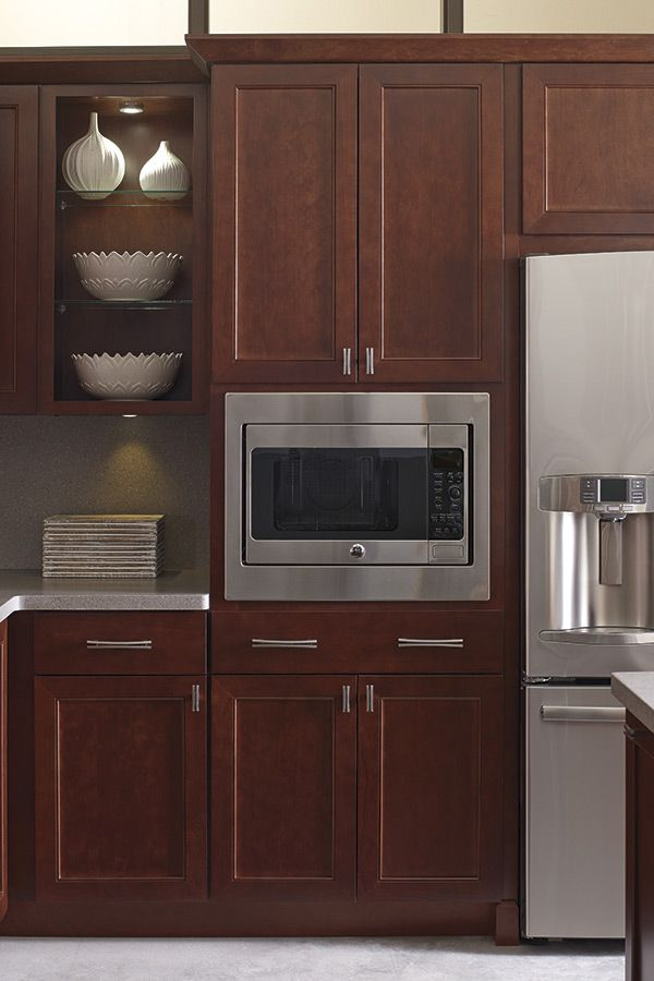 A Built-In Microwave Cabinet is a must in every home.  They free up counter space and provide a polished look for your kitchen.