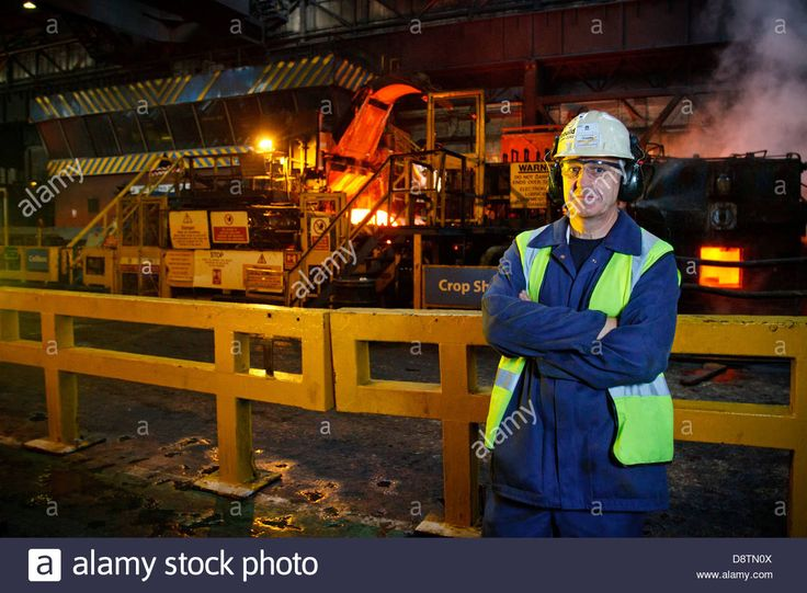 Robert Bizzel, FD of Tata Steel Strip products photographed at the Tata Steel Works, Port Talbot, South Wales Stock Photo