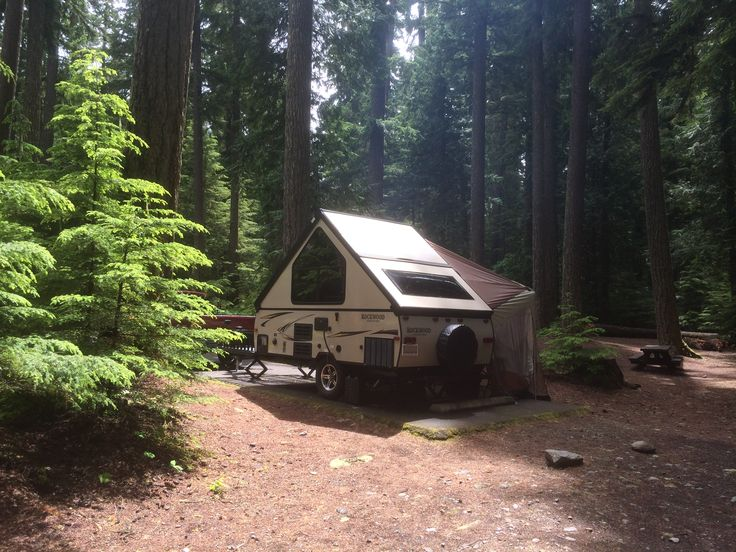 our new 2015 rockwood a127th a frame camper on its first trip out it