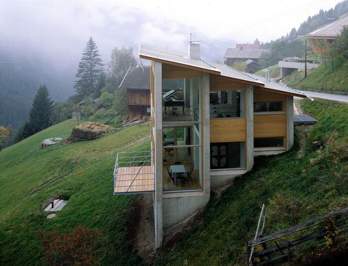 Margarethe Heubacher-Sentobe - Haus L (house for a composer), Tirol 1996.