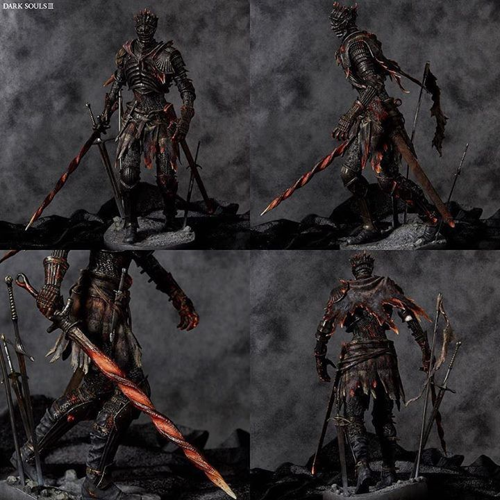 We are pleased to announce Geccos latest statue line from the mega hit action RPG Dark Souls III!  First up they have Souls of Cinder the main visual of Dark Souls III recreated as a polystone statue.   This gigantic boss enemy was thoroughly supervised by the design team of FromSoftware to be a whopping 42 cm tall statue in spite of its 1/6 scale.   The chainmail of the prototype was woven and produced in the same way as real armor just at a much smaller scale.   The detailed texture is…