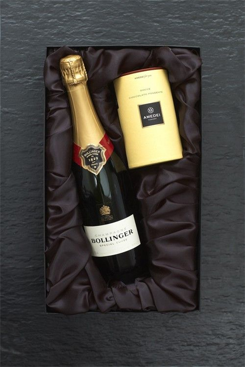 Bollinger Champagne and Amedei Gift Box