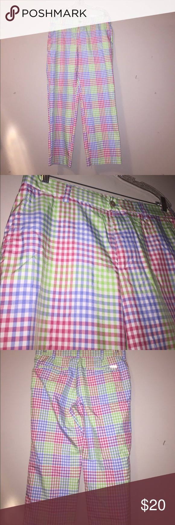 Izod Golf Pants 33x30 I know Easter just passed... but these bright colored Izod pants will give you a flashy edge out on the course. Colors are white pink green blue Izod Pants Dress
