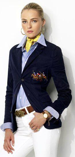 Ralph Lauren 2013  Frm bd: CASUAL Style & Looks. Luv the blazer & belt..