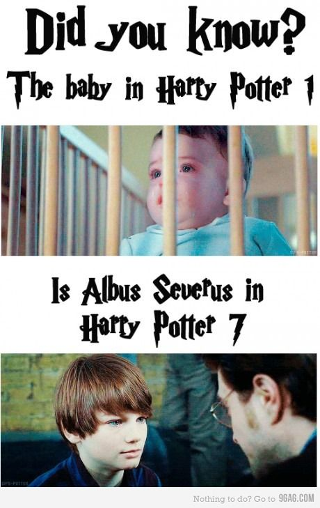 Did you know? The baby in Harry Potter 1 is Albus Severus in Harry Potter 7.
