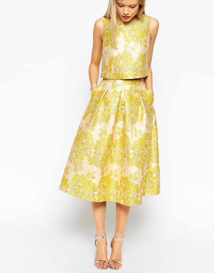 Asos Golden Jacquard Skirt Co Ord Things To Wear