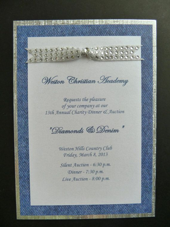 Diamonds And Denim Party Invitation By Urinvitedus On Etsy