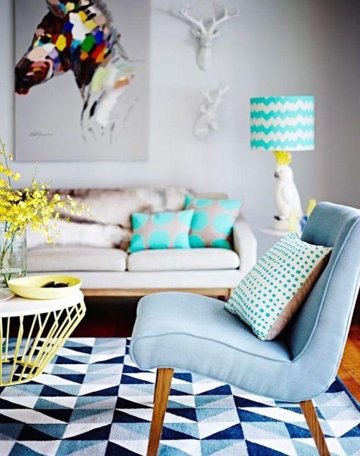 Inspiração para sala: colorida e geométrica | Danielle Noce