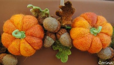 Felt Oak Leaves, Acorns, and Pumpkins, oh my :-)