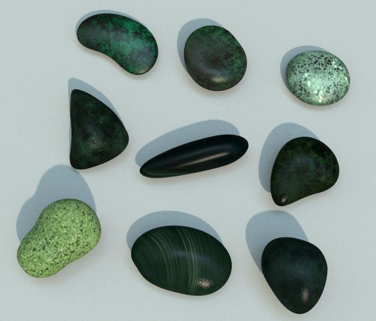 3D obj pebbles stones rocks