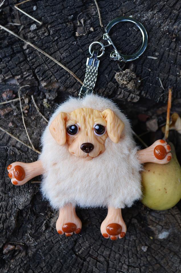 #ручнаяработа #handmade #арт #art #искусство #игрушки #arttoys #toys #чудик #брелок #брелоки #mywork #собаки #собачки #dog #dogs #лабрадор Высота: 6 см