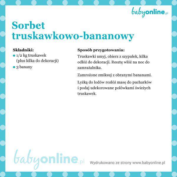 Przepis na truskawkowo-bananowy sorbet dla dziecka