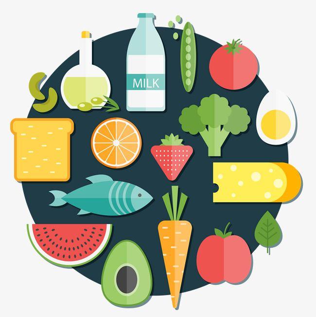 Coleccion De Alimentos Saludables De Vector Un Pan Beber Sandia Png Y Psd Para Descargar Gratis Pngtree Logo Food Healthy Recipes Some Ideas