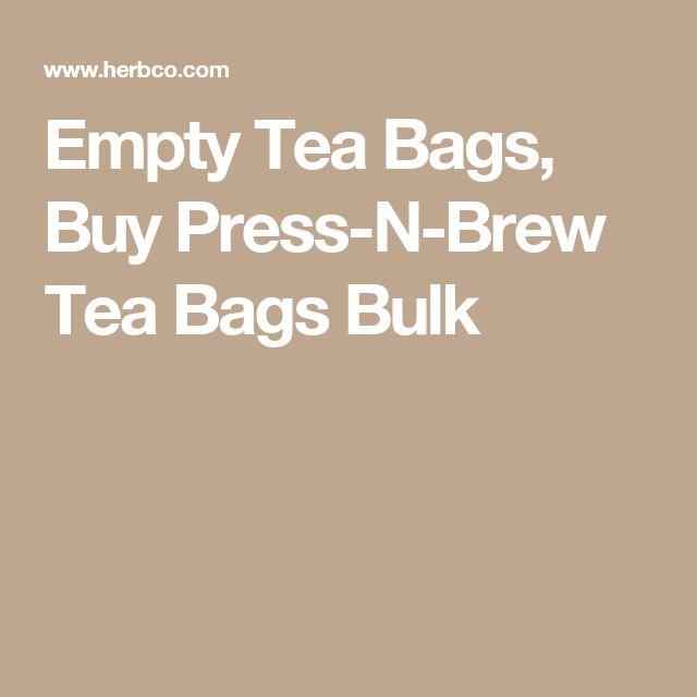 Empty Tea Bags, Buy Press-N-Brew Tea Bags Bulk