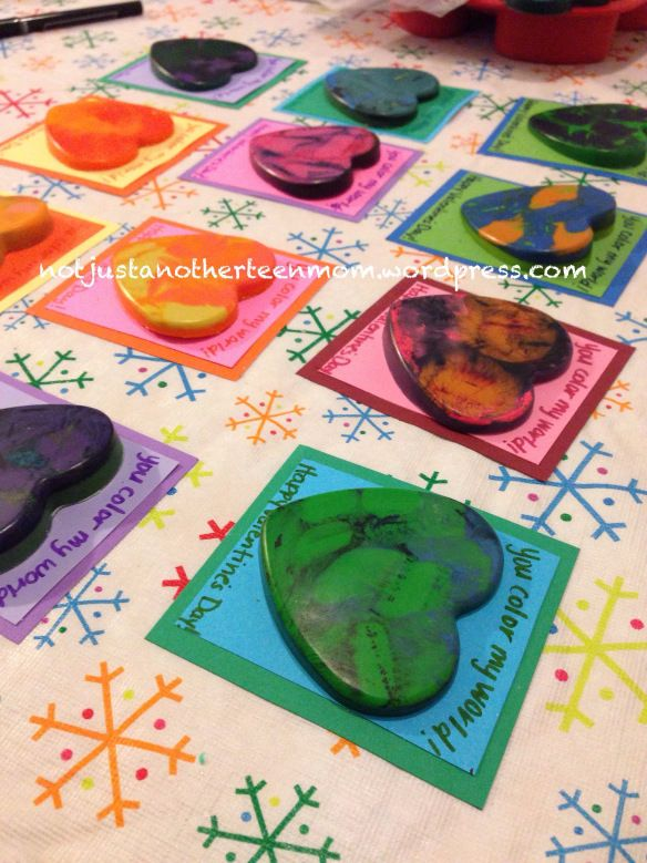 DIY Melted Crayon Valentines Melted Crayons Crayons And